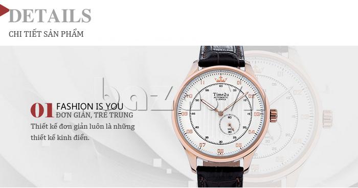 Đồng hồ nam Time2U 91-18958 bền đẹp