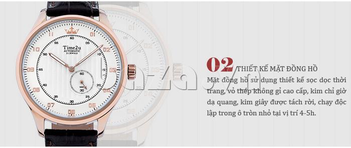 Đồng hồ nam Time2U 91-18958 khẳng định đẳng cấp doanh nhân
