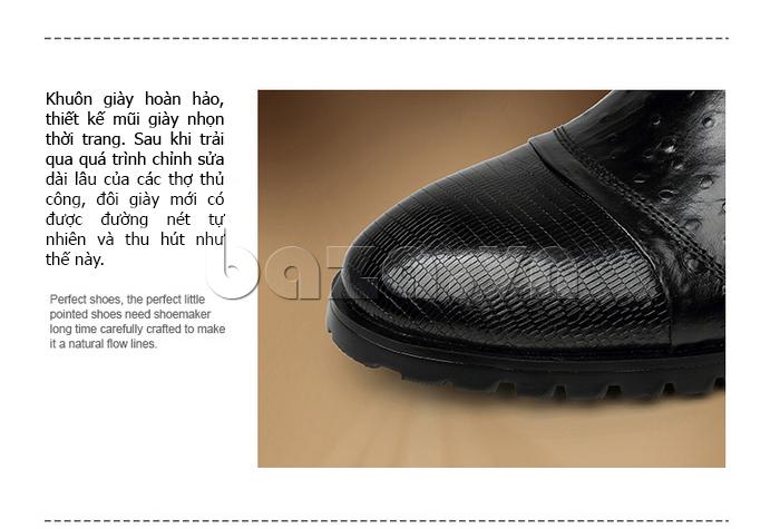 Giày da nam VANGOSEDUN 732169 được thiết kế từ khuôn giày hoàn hảo