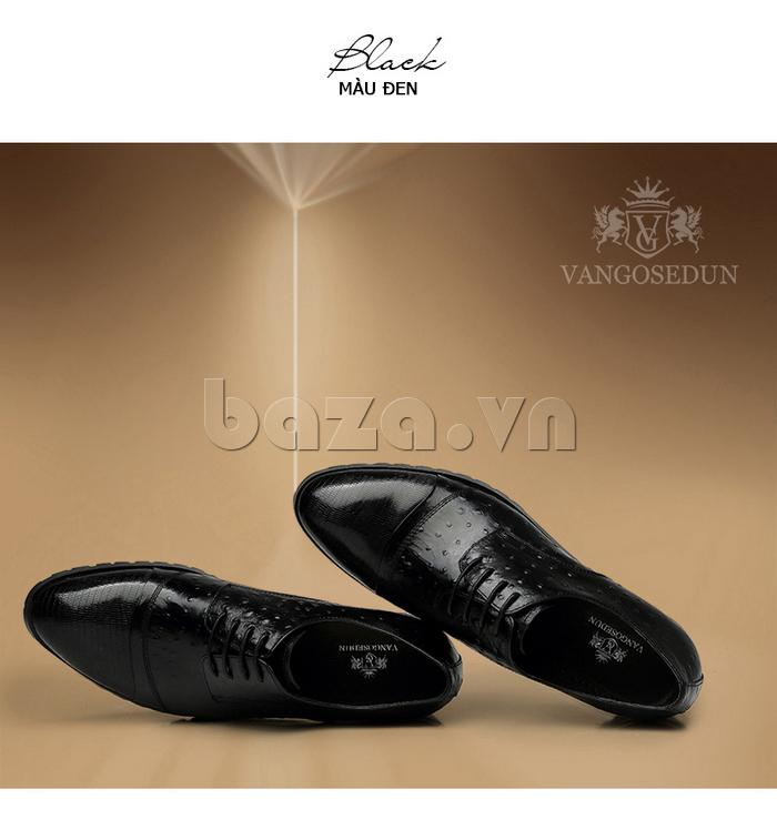 Giày da nam VANGOSEDUN 732169 màu đen sang trọng huyền bí