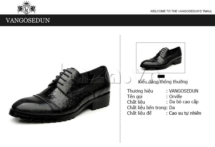 thông tin của Giày da nam VANGOSEDUN 732169