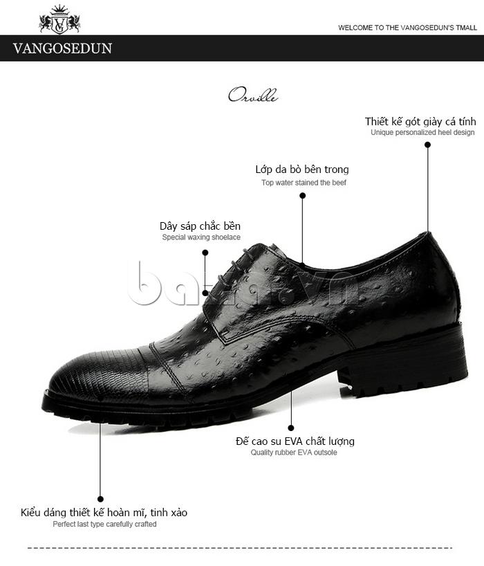Giày da nam VANGOSEDUN 732169 chất lượng
