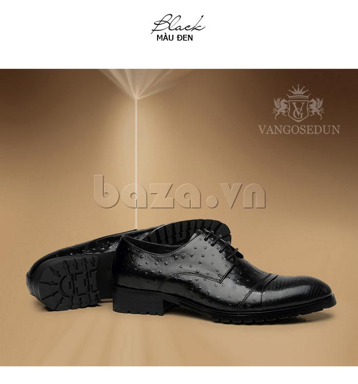 Giày da nam VANGOSEDUN 732169 hoa văn gai, cá sấu sang trọng đến từng chi tiết