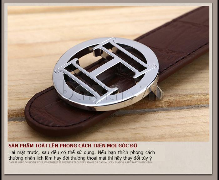 Dây lưng nam Feayoo FY-D072 khóa chữ H thời trang