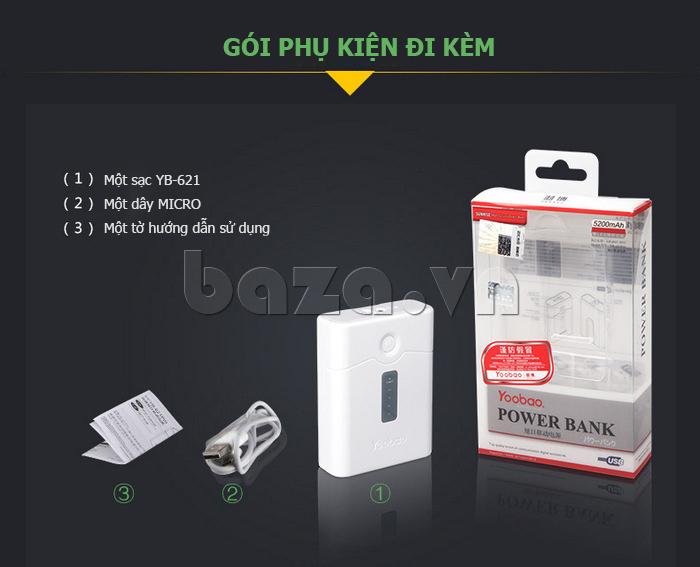 Pin dự phòng di động 4400mAh Yoobao YB-621 bán tại baza