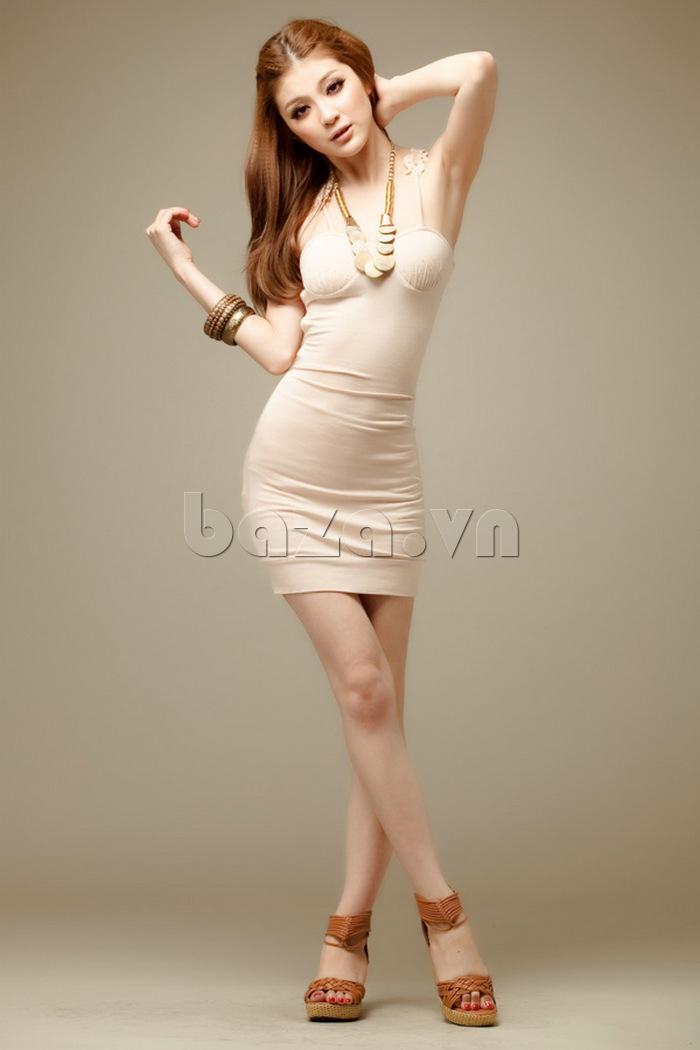 Váy bó sát toàn thân quyến rũ Flower Angel A002 khoe chân dài