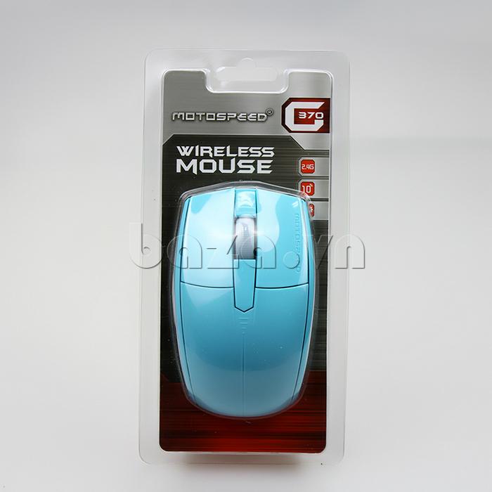 Chuột máy tính Motospeed G370  màu xanh thời trang