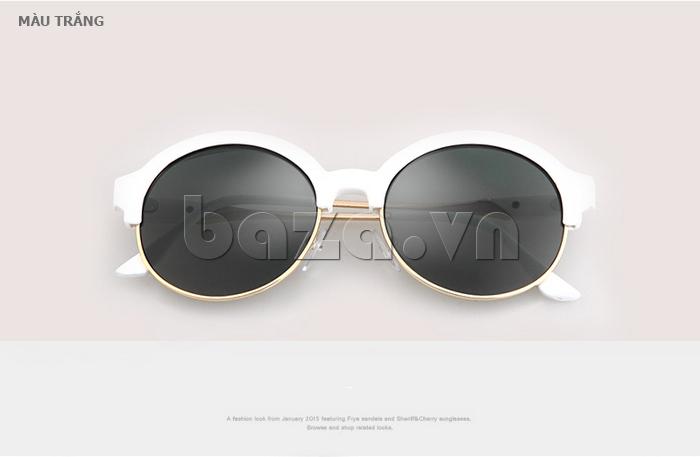 Kính mắt Unisex mắt tròn thời trang MSMK 1410 - màu trắng