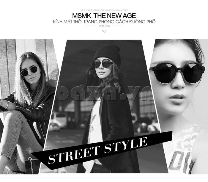 Kính mắt Unisex mắt tròn MSMK 1410 - phong cách đường phố