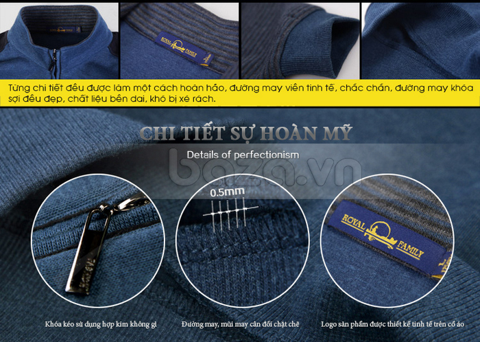 Từng chi tiết trên áo đều được làm một cách hoàn hảo, đường may viền tinh tế và chắc chắn