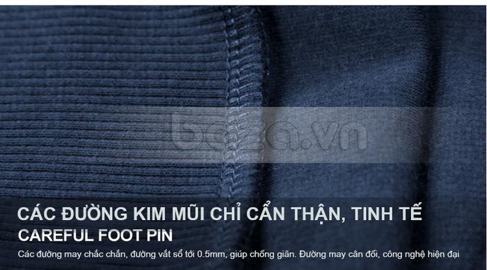 Các đường may chắc chắn, đường vắt sổ 0,5mm giúp chống giãn áo