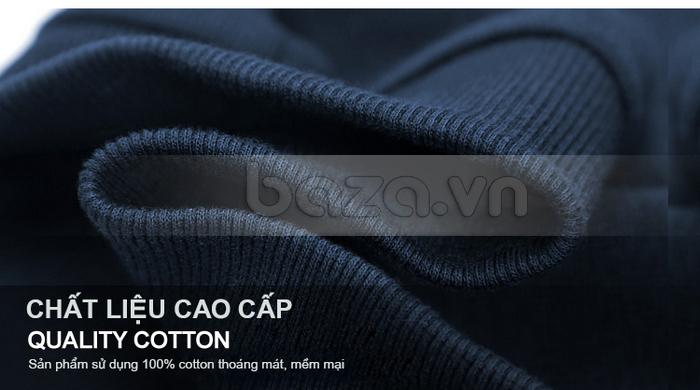 Chất liệu áo 100% cotton cao cấp, thoáng mát và mềm mại