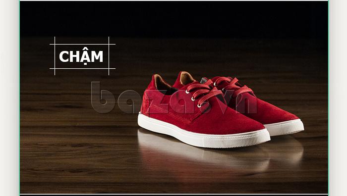 Giày nam Notyet NY-SB3272 màu đỏ rực rỡ