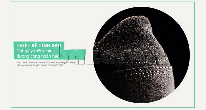 Giày nam Notyet NY-SB3272 thiết kế gót giày mềm mịn, đường cong hoàn hảo
