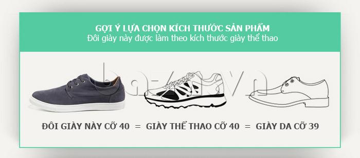 Giày nam Notyet NY-SB3272 có nhiều size cho bạn lựa chọn