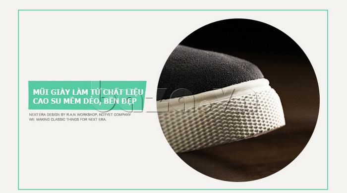 Mũi của Giày nam Notyet NY-SB3272 được làm từ chất liệu cao su mềm dẻo