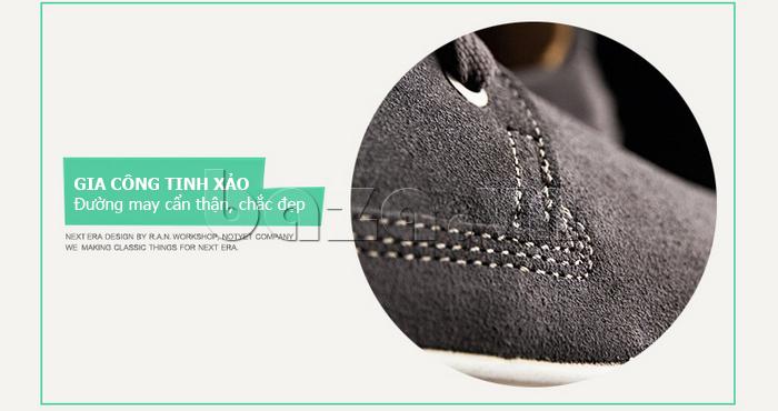 Giày nam Notyet NY-SB3272 được gia công tinh xảo với đường may đẹp mắt