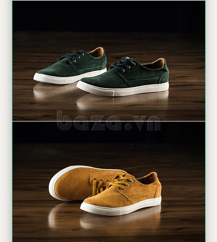 Giày nam Notyet NY-SB3272 màu lục và màu vàng ấn tượng
