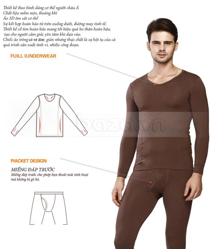 Bộ đồ ngủ mùa đông OWZZA - thiết kế ôm sát cơ thể