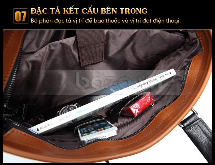 Túi da nam FG054 Đường vân xương cá và tinh tế