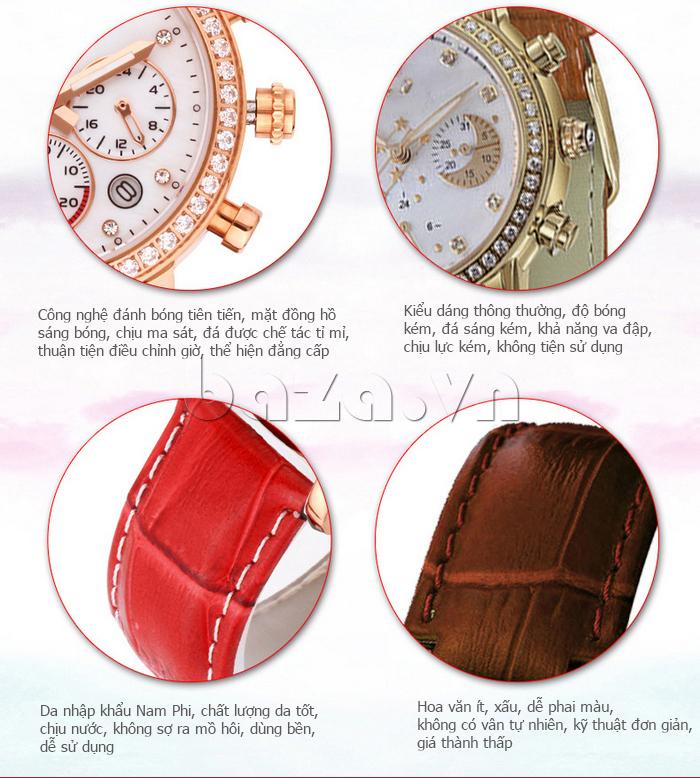 Đồng hồ nữ Brigada 3003 bền đẹp