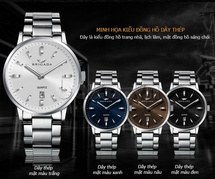 Đồng hồ nam hàng hiệu Brigada BJD-3009G