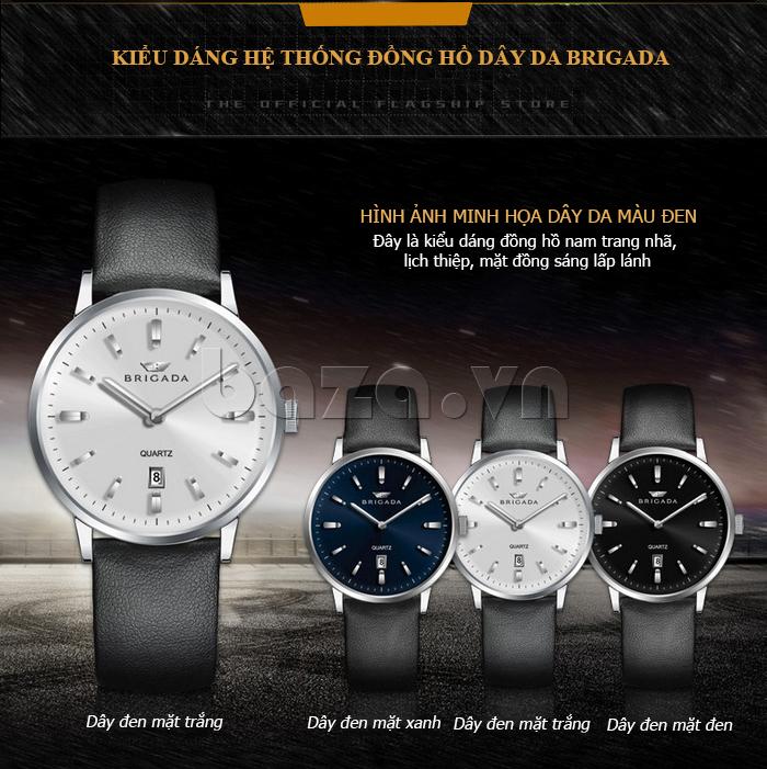 Đồng hồ nam Brigada BJD-3009G đa dạng phiên bản