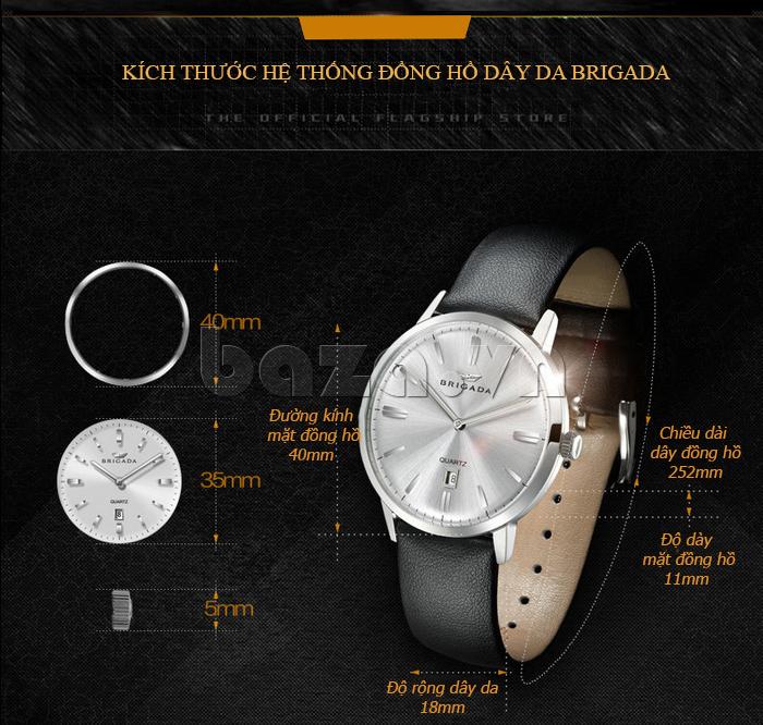Thông tin thiết kế Đồng hồ nam Brigada BJD-3009G