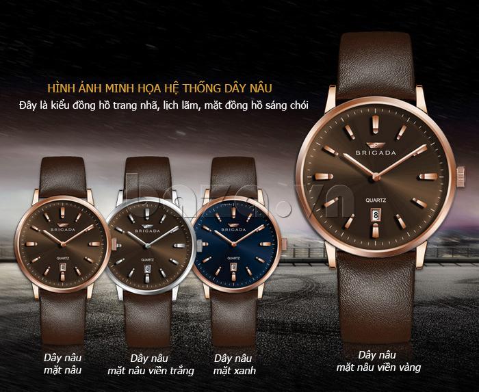 Đồng hồ đeo tay nam Brigada BJD-3009G