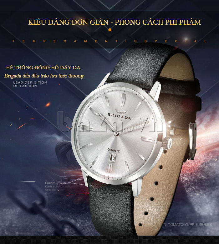 Đồng hồ nam Brigada BJD-3009G