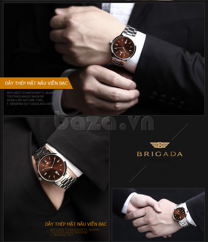 Đồng hồ nam Brigada BJD-3009G chất lượng không bàn cãi