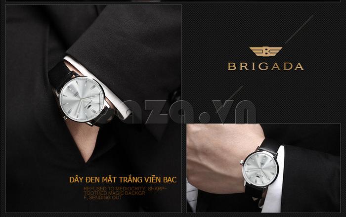 Đồng hồ nam Brigada BJD-3009G đẳng cấp lịch lãm