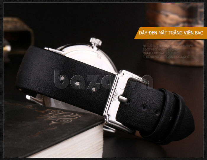 Đồng hồ nam Brigada BJD-3009G kiểu khóa gài cổ điển