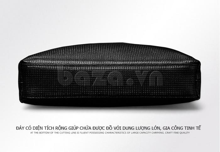 Túi da nam Feger 9808-1 dập lỗ tinh xảo, chất lượng cao