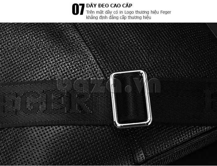 Túi da nam Feger 9808-1 dập lỗ tinh xảo, bền đẹp, sang trọng