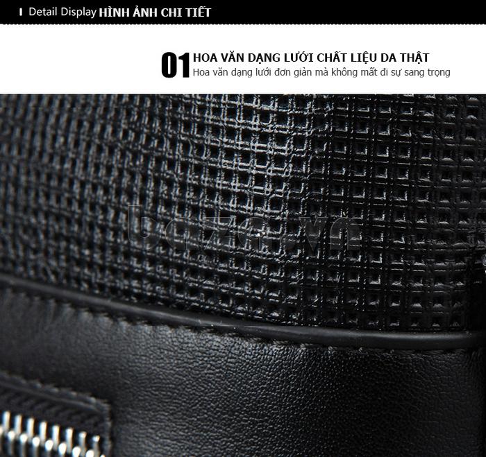 Túi da nam Feger 9808-1 dập lỗ tinh xảo, tinh tế và đẳng cấp