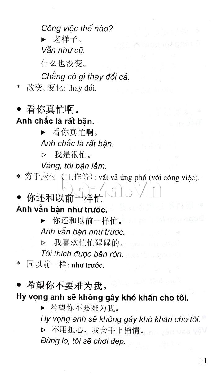 Cẩm nang Hội thoại Trung - Việt giúp bạn học tốt tiếng Trung