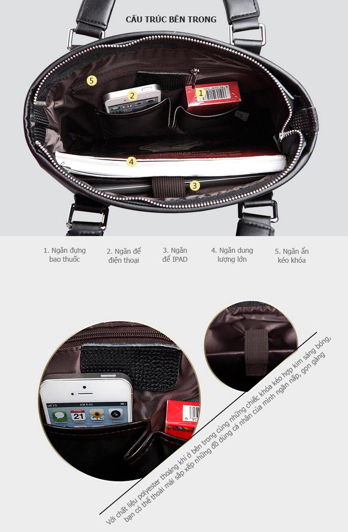 Túi da nam Feger 9808-2 hoàn hảo