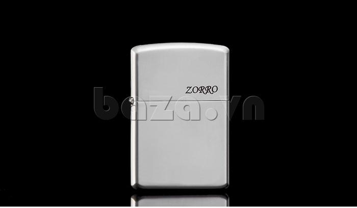Bật lửa trơn trắng bạc Zorro Z6003a  sang trọng