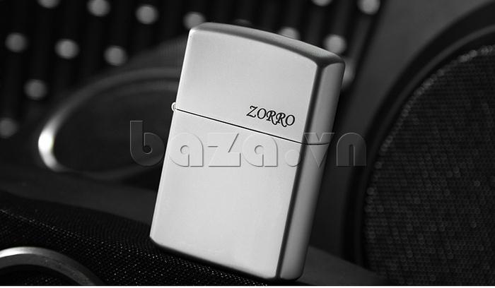 Bật lửa màu trắng bạc Zorro Z6003a