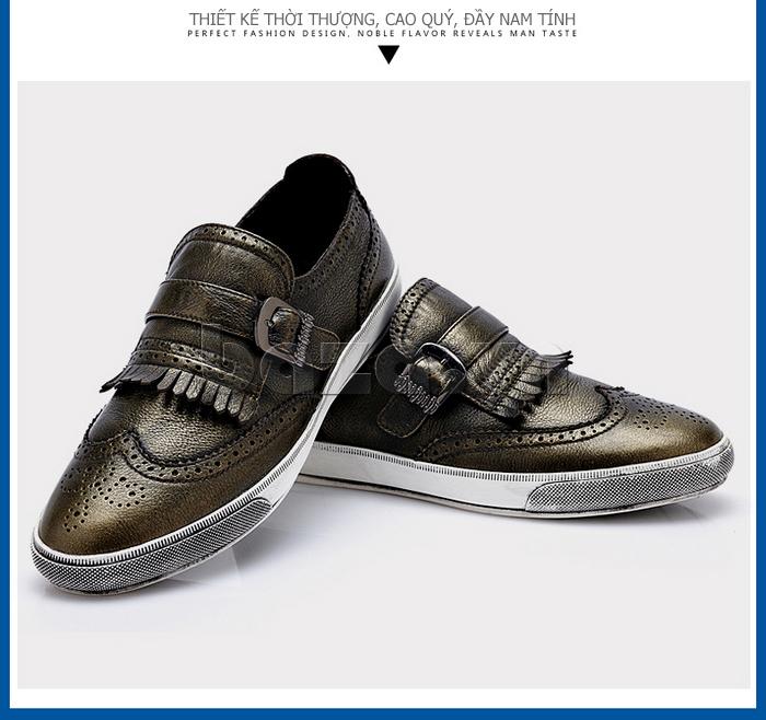 Giày da nam CDD 3835 viền tua rua cá tính