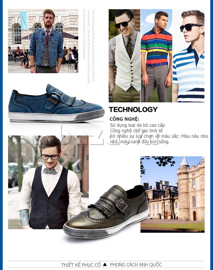 Giày da nam CDD 3835 viền tua rua công nghệ cao cấp
