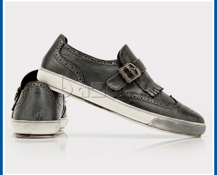 Giày da nam CDD 3835 viền tua rua thích hợp cho mùa thu -đông