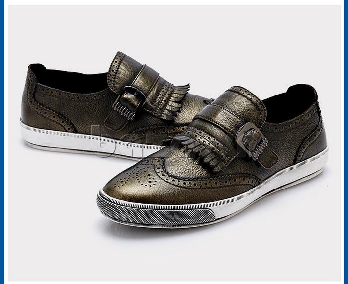Giày da nam CDD 3835 viền tua rua sang trọng