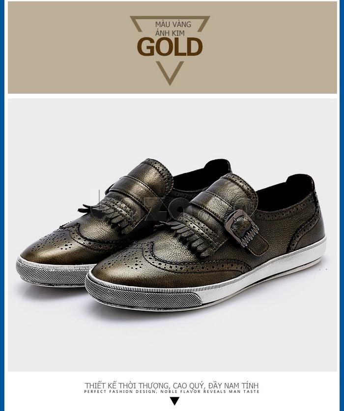 Giày da nam CDD 3835 viền tua rua thời trang cuốn hút