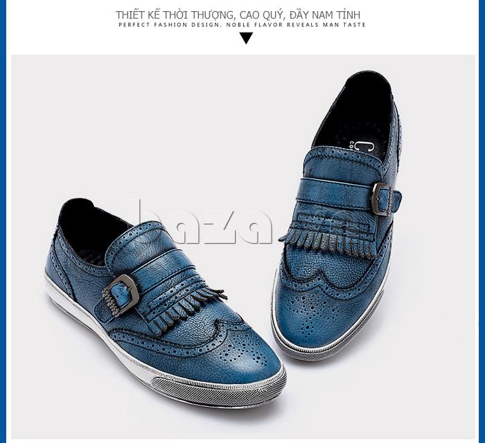 Giày da nam CDD 3835 viền tua rua độc đáo và trẻ trung