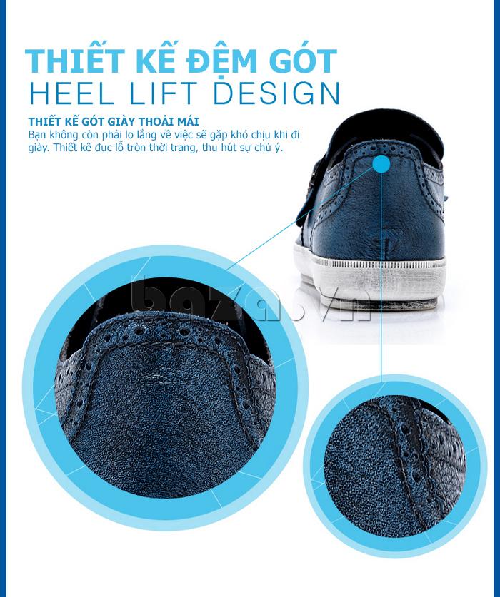 thiết kế sang trọng của Giày da nam CDD 3835 viền tua rua