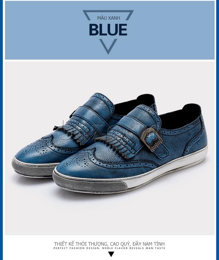 Giày da nam CDD 3835 viền tua rua đơn giản cá tính
