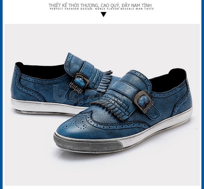 Giày da nam CDD 3835 viền tua rua lịch lãm