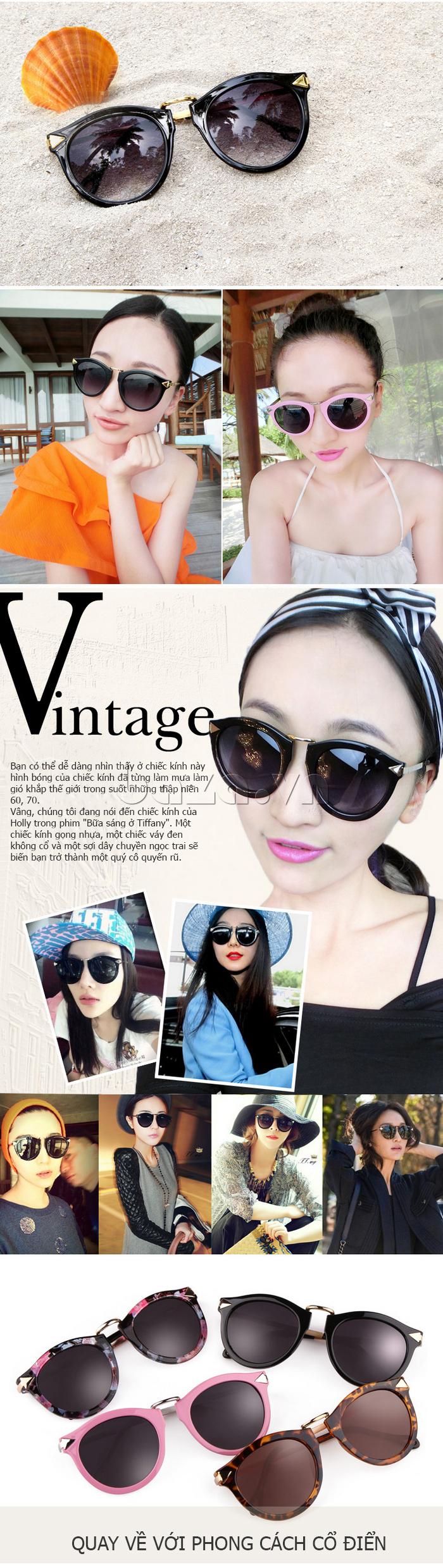 Kính nữ thời trang RBSPACE B086 hiện đại theo phong cách vintage
